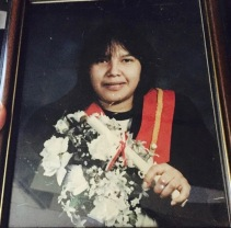 My mother has influenced me the most. She graduated from high school in 1998. She's worked many jobs - she's worked at the daycare, been a peacekeeper for a while, worked at Ontario Works, taught at the school, worked with Right to Play, and now has a permanent job at the school! She's actually my role model. She didn't go to college and decided to stay in Pikangikum. Now I'm following her steps. I want to graduate, go to college, explore the world and get a job. She's my encouragement to finish school and do all these things.